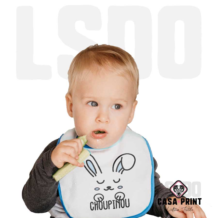 Vêtement enfant personnalise bavoir casa print