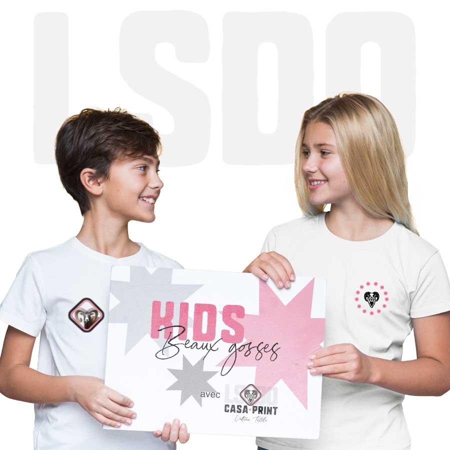 Vêtement enfant personnalise t-shirt ado casa print