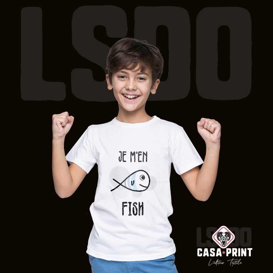 Vêtement enfant personnalise t-shirt casa print